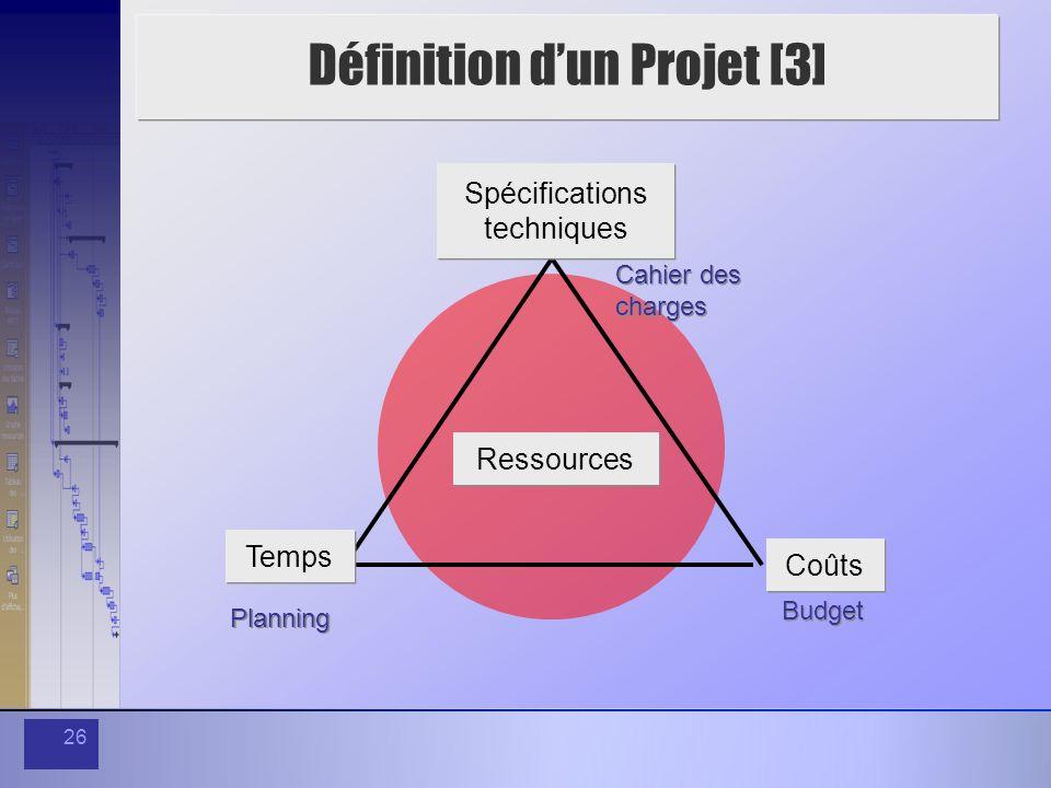 Définition d'un Projet [3]